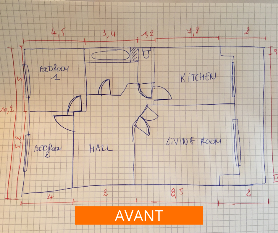 croquis marketing immobilier plan 2D