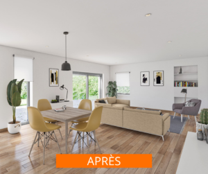 home staging virtuel photo immobilier